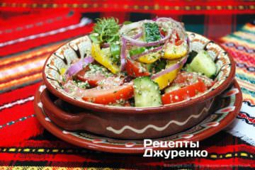 Фото рецепта салат из свежих овощей