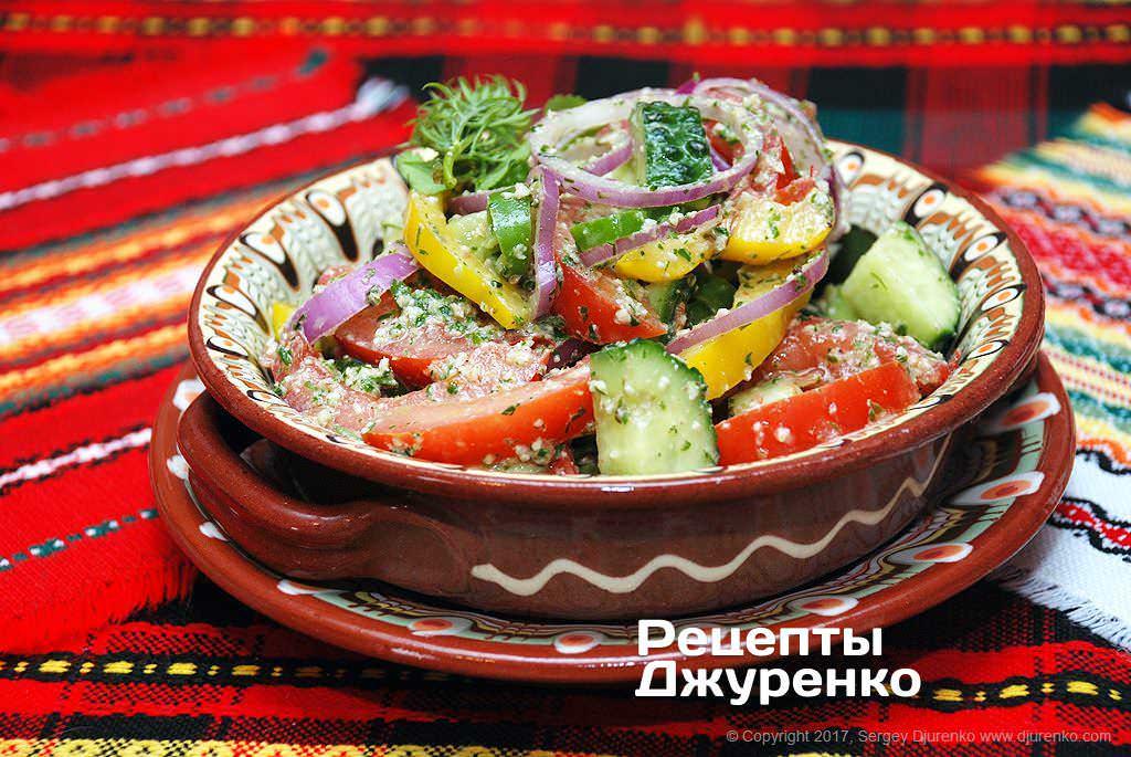 салат зі свіжих овочів фото рецепту