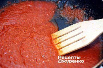 Тушить томатный соус