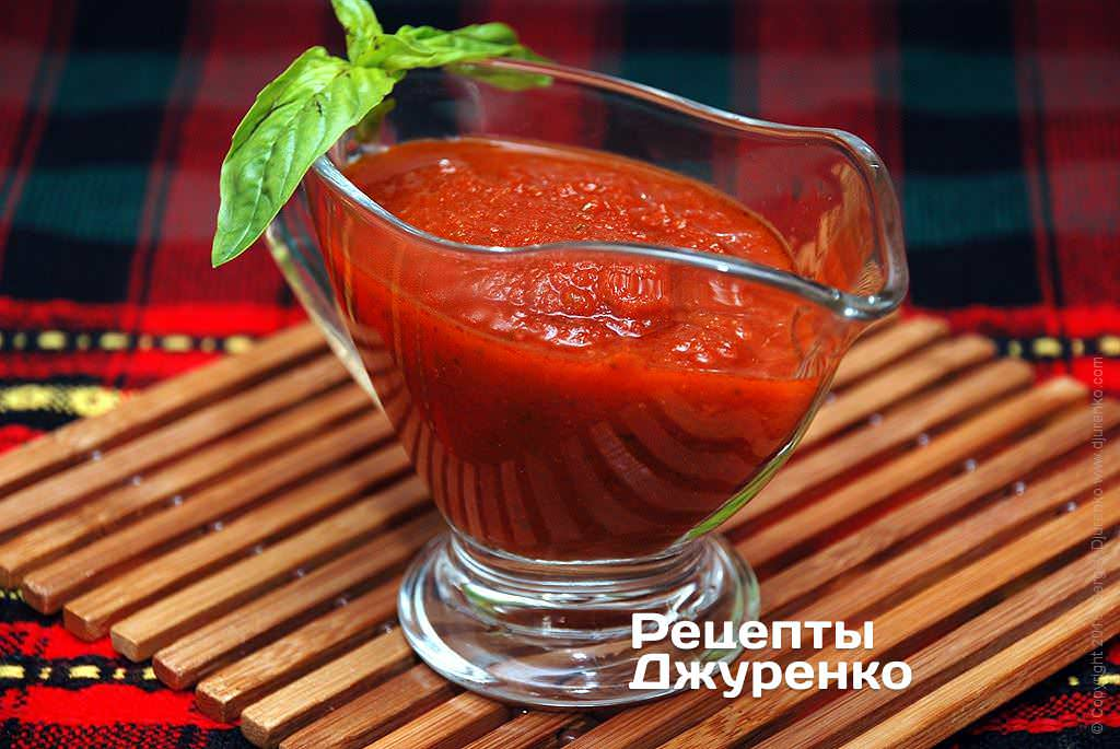 Томатный соус из свежих помидоров для курицы