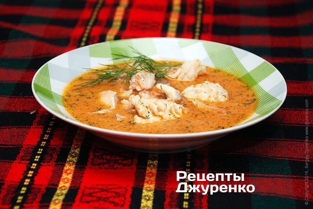 Фото готового рецепта суп из рыбы в домашних условиях
