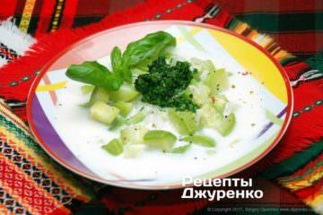 Фото рецепта суп з кабачка