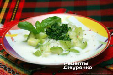Фото рецепта суп с кабачком