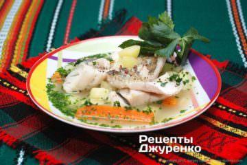 Фото рецепта суп из судака