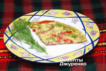 Фото до рецепту: фріттата — омлет з шинкою