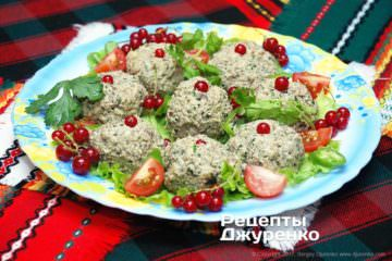 запеченні баклажани з зеленню та горіхами
