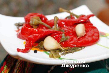Фото рецепта маринованный острый перец