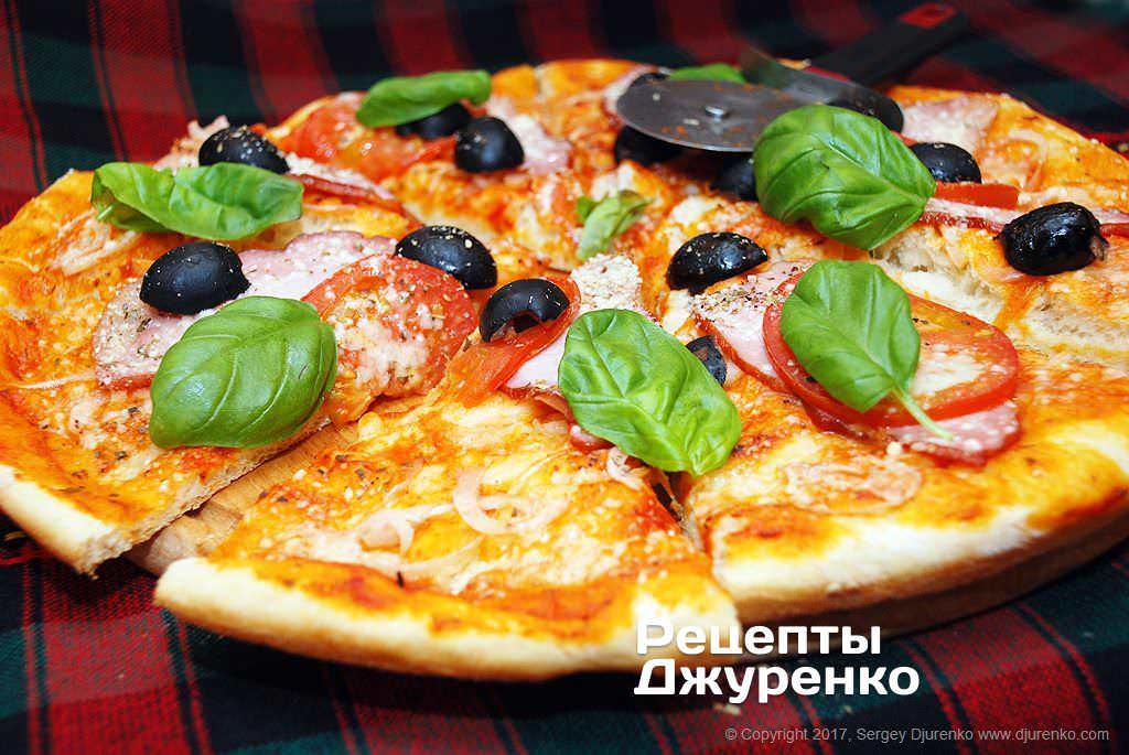 піца з м'ясом фото рецепту