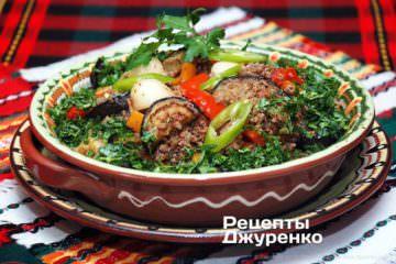 Фото до рецепту: рагу баклажани з м'ясом