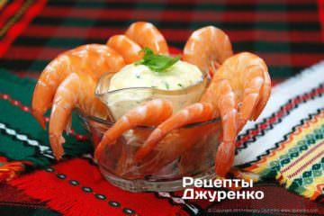 Креветки з соусом