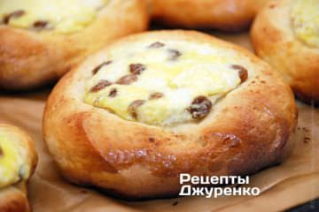 Фото рецепта ватрушки з сиром