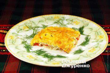 Вкусный запеченный судак под сыром