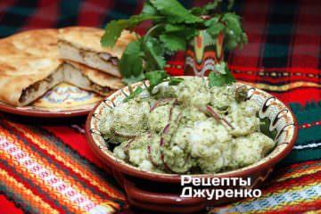 Фото рецепта салат из цветной капусты