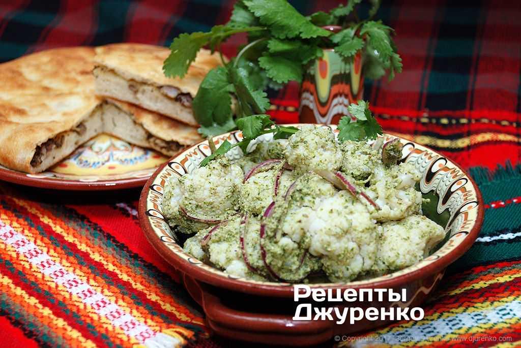 Фото готового рецепта салат из цветной капусты в домашних условиях