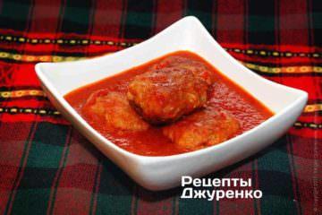 Фото до рецепту: котлети в соусі