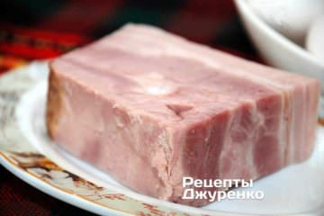 Панчетта, бекон або копчене сало з пророслю