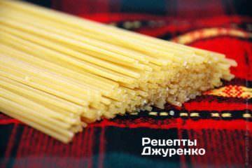Самая распространенная паста — спагетти