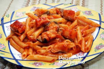Фото рецепта паста с лососем