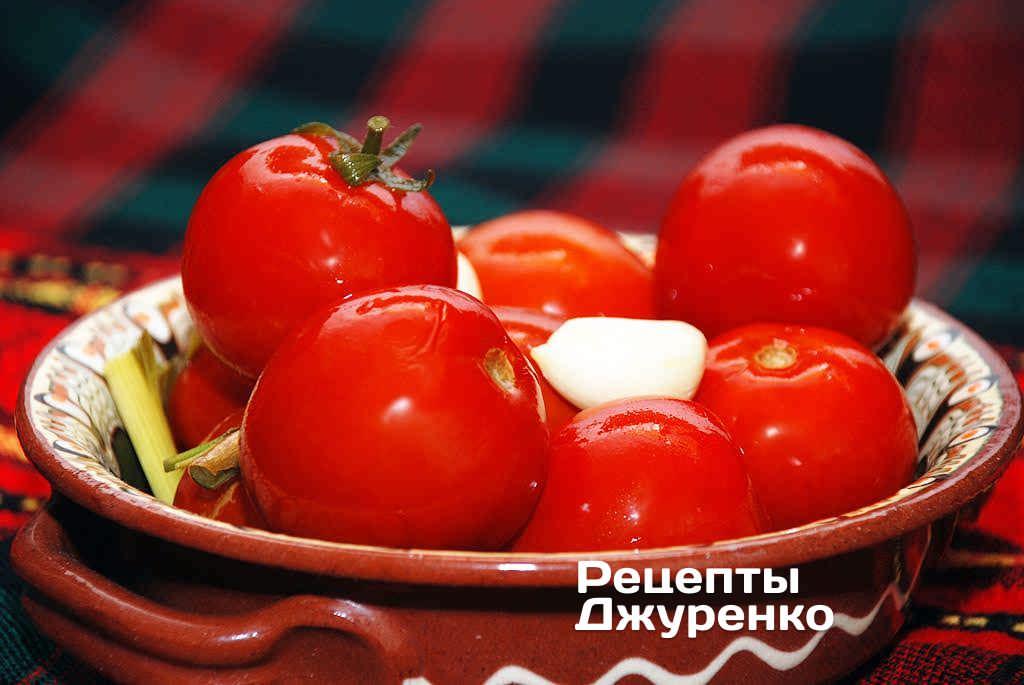 Фото готового рецепта квашеные помидоры в домашних условиях