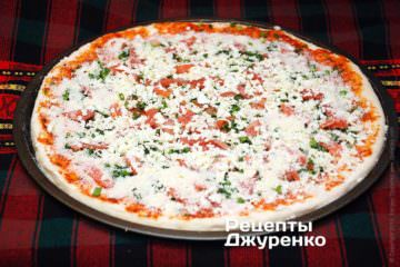 Дать пицце постоять 10 мин