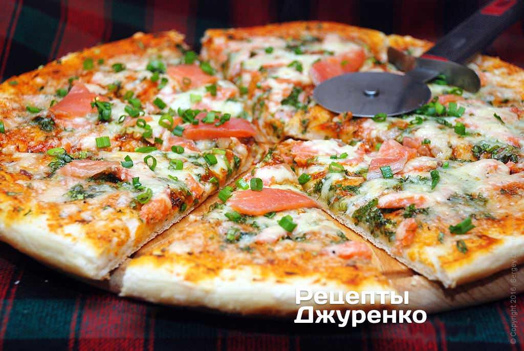 піца з лососем фото рецепту