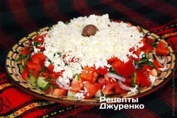 Салат з печеним перцем