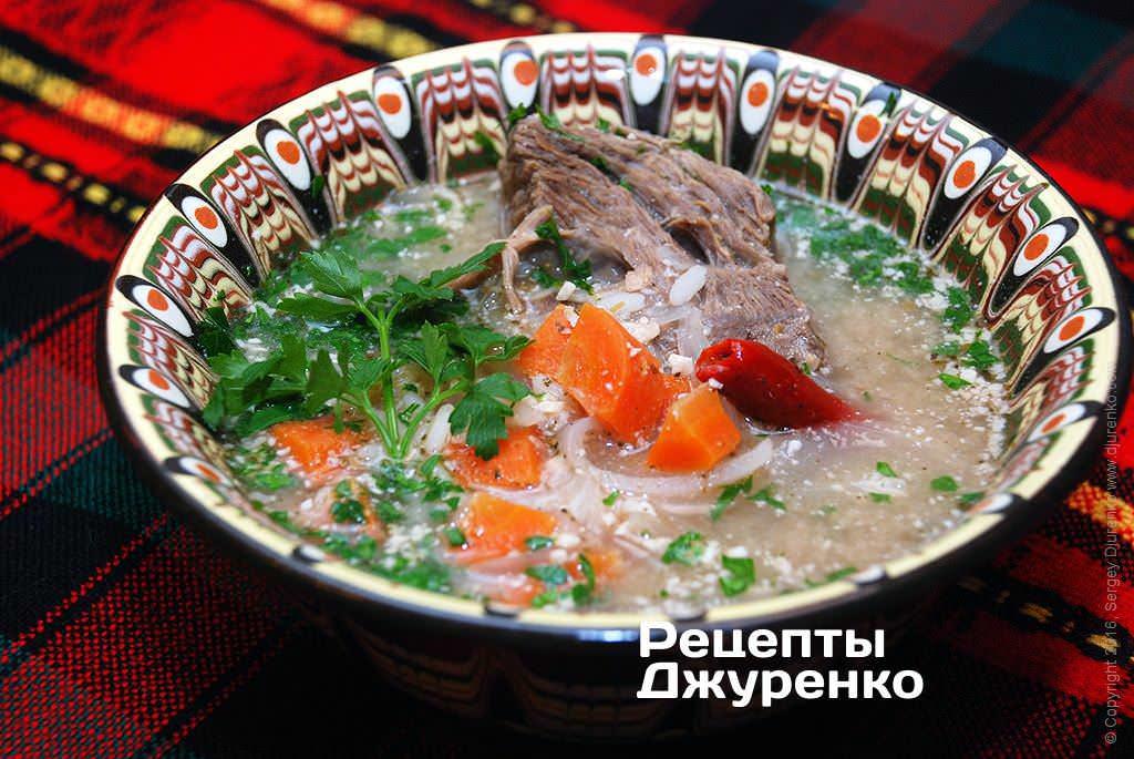 Суп з ребрами
