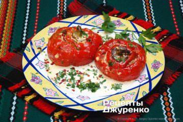 Фото рецепта запеченный фаршированный перец