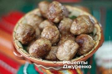 Фото рецепта фрікадельки köttbullar