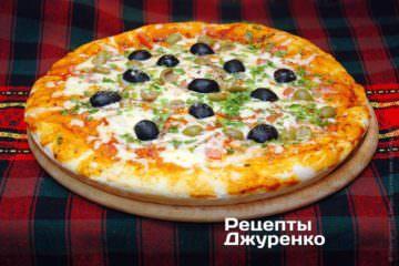 Фото рецепта пицца с оливками