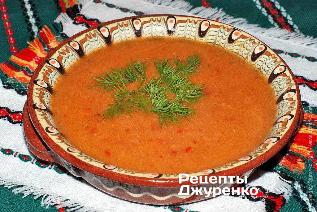 Фото готового рецепту суп-пюре з квасолі в домашніх умовах