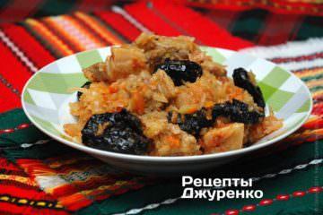 Фото рецепта капуста тушеная с мясом