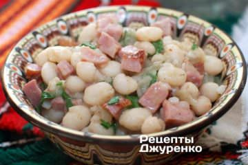 Фото до рецепту: квасоля з м'ясом