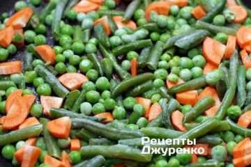 Поджарить овощи