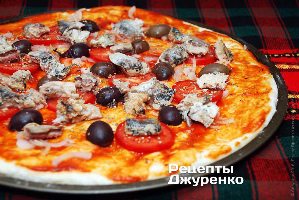 Пицца с рыбными консервами рецепт с фото
