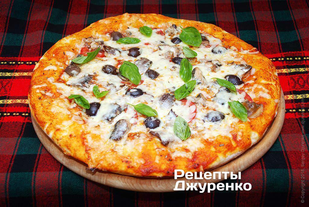 пицца с рыбой рецепт с фото