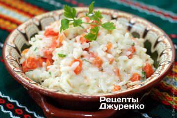 Рис с морковью