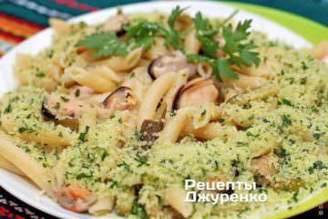 Фото рецепта паста з мідіями