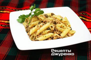 Фото рецепта макароны с мясом