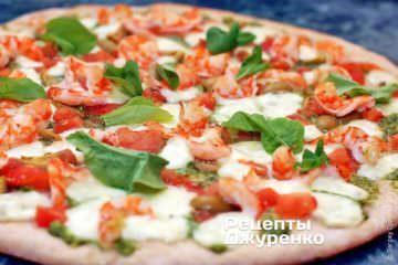 Фото рецепта пицца с креветками