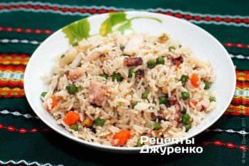 Морепродукти з рисом