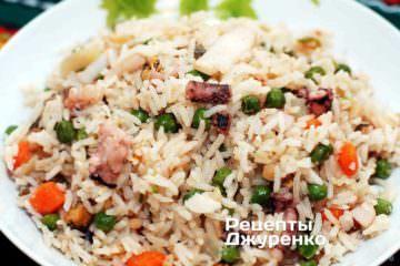 Фото рецепта морепродукти з рисом