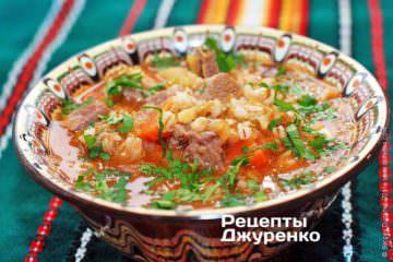 Фото рецепта суп з перловки
