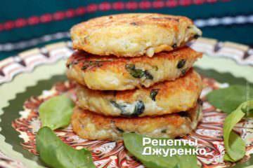 Фото рецепта картофельные блинчики с сыром рикоттой