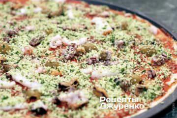 Как сделать пиццу в домашних условиях с морепродуктами