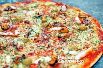Фото рецепта пицца «морской коктейль» — морская пицца