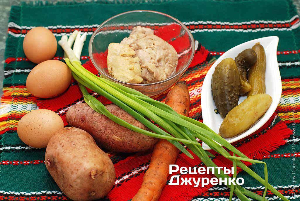 Салат из вареной картошки зеленого лука печень трески