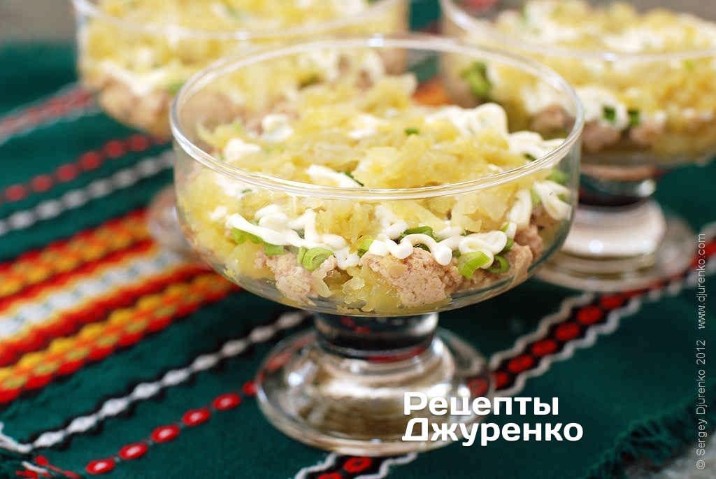 Салат с печенью трески рецепт с соленым огурцом