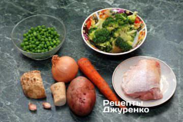 Інгредієнти для супу з брокколі
