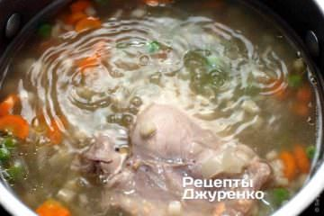 Вытащить курицу из супа